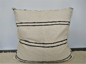 Nordico fatboy/floor cushion cover - off-white with black lines detail