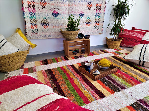 Multicoloured eco rug handmade in Andalucia
