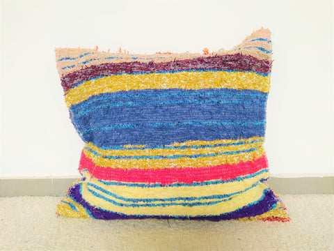 Multicoloured eco handmade cushion cover