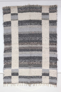 Grey Granada thick eco rug handmade in Andalucia - grey side