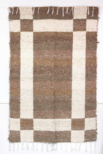 Brown Granada thick eco rug handmade in Andalucia - brown side