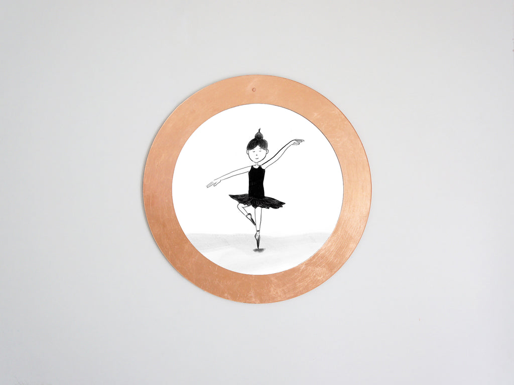 Calvill Shiny Copper Mirror Dancing Girl