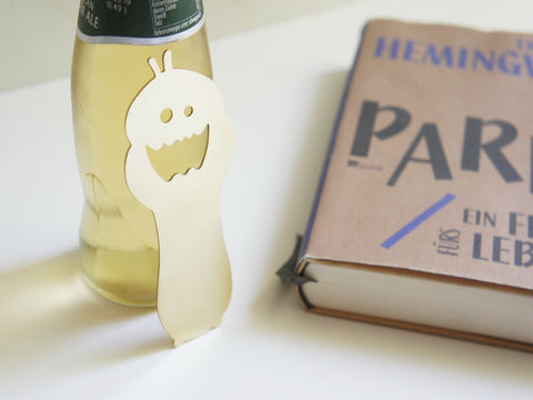 Brass Bottle Opener and Bookmark Calvill