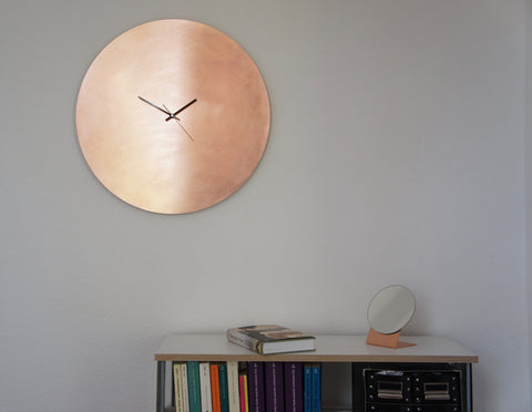 Copper Wall Clock Large 56 cm Calvill Kupfer Wanduhr groß