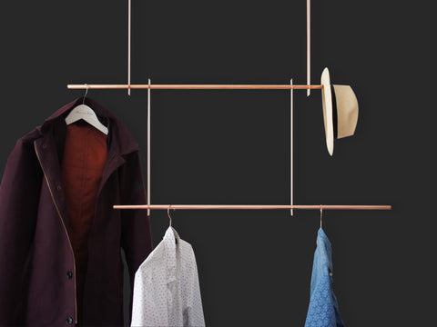 Sleek Copper Clothes Hanger