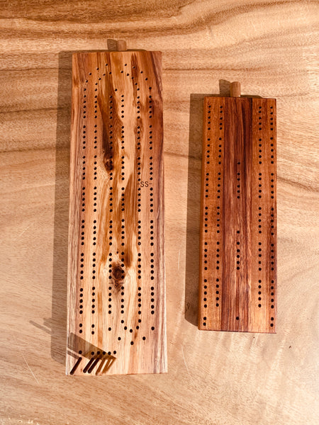 Koa Cribbage Board