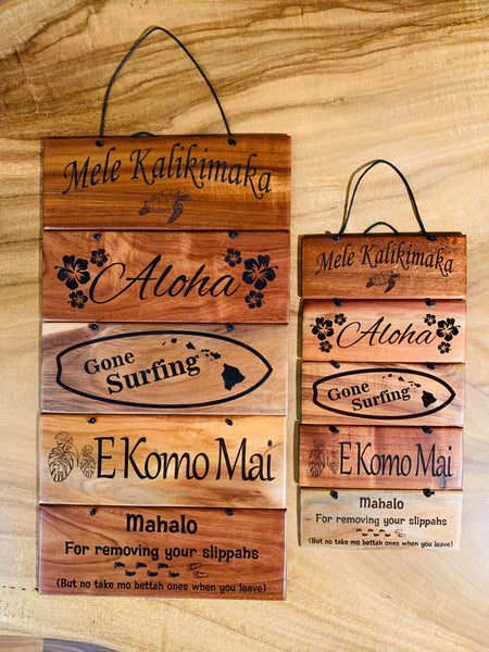 Koa Wood Hanging Signs - Assorted