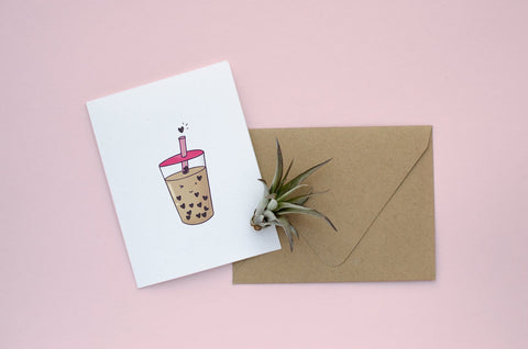Boba Greeting Card