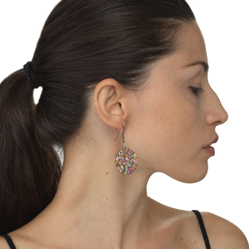 Multicolor Tourmaline Earrings By Kathy Levine