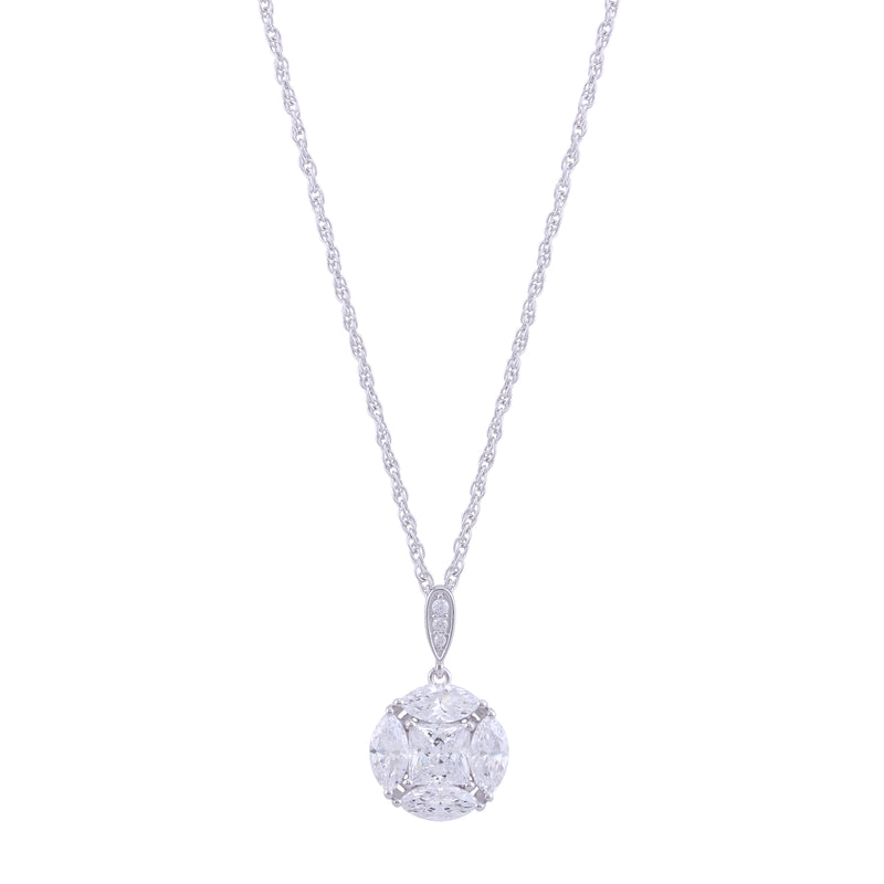 St. Maarten Sterling CZ Pendant with Chain by Kathy Levine