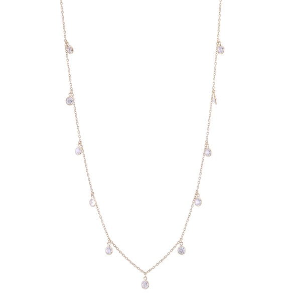 Galaxy Drop CZ Necklace by Kathy Levine