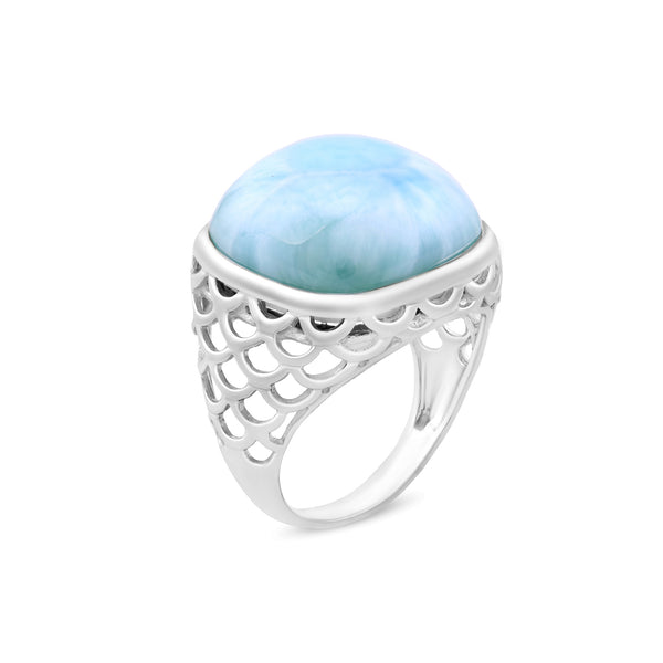 Ring in 925 Sterling Silver With Larimar