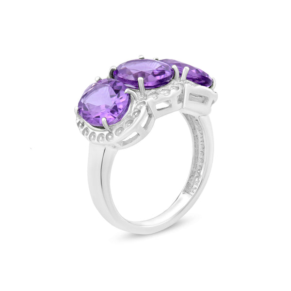 Ring In 925 Sterling Silver With Amethyst