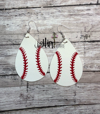 Baseball Earrings - In Him Designs