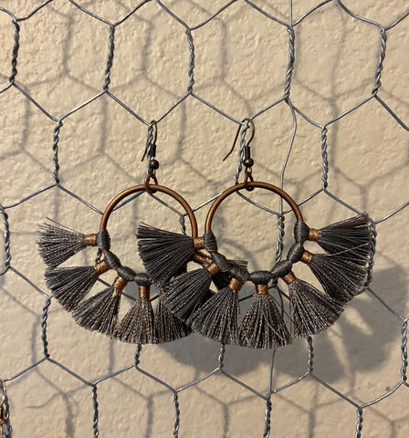Gray/Bronze Tassel - In Him Designs