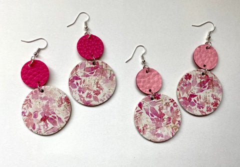 Taffy Pink Circle Drop - In Him Designs