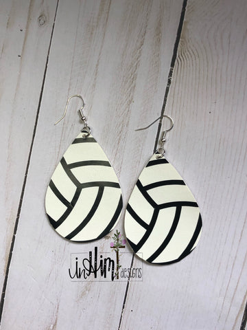 Volleyball Earrings - In Him Designs