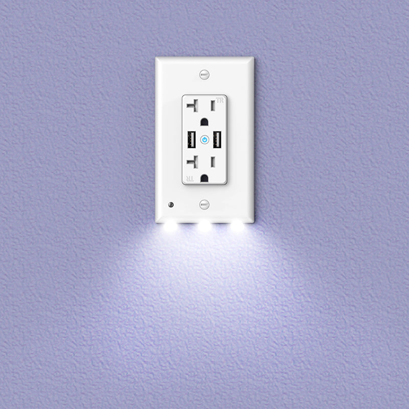 Night Light Smart Wifi Usb Outlet High Speed Dual Usb