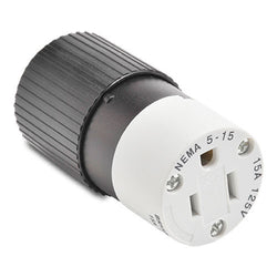 NEMA 5-15 CONNECTOR - 15A 125VAC 2-POLE 3-WIRE