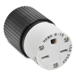 NEMA 6-15 CONNECTOR - 15A 250VAC 2-POLE 3-WIRE