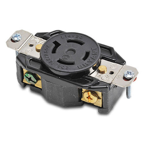 NEMA L14-20 LOCKING RECEPTACLE - 20A 125/250VAC 3-POLE 4-WIRE