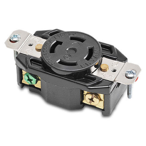 NEMA L15-30 LOCKING RECEPTACLE - 30A 250VAC 3-POLE 4-WIRE