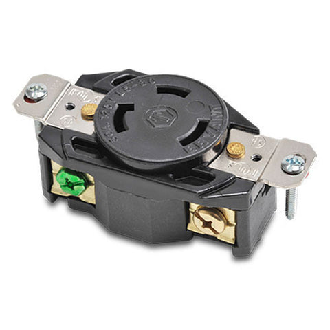 NEMA L5-30 LOCKING RECEPTACLE - 30A 125VAC 2-POLE 3-WIRE