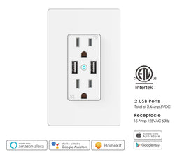 Wall Outlet With Usb Charger Cander Trade