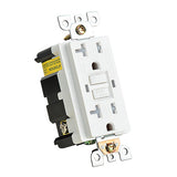 20 Amp 125-Volt Duplex Self-Test Slim GFCI Outlet, White (100-Pack)