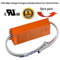 25W High-Voltage Emergency Backup Driver for Internal Driver
