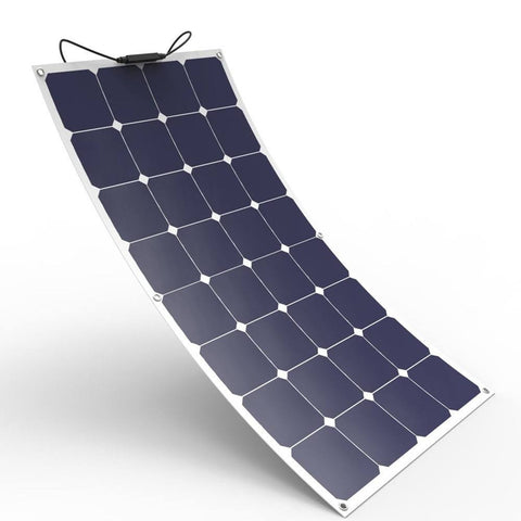 12V 100W Semi-Flexible Solar Panel Monocrystalline Photovoltaic Outdoor