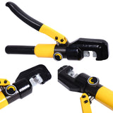 10 Ton Hydraulic Wire Terminal Crimper Battery Cable Lug Crimping Tool w/Dies Free Shipping