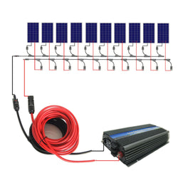 600W 12V Solar Panel System w/ Controller or Inverter for Home