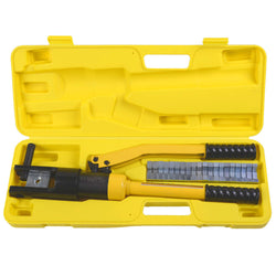 16 Ton Hydraulic Wire Terminal Crimper Battery Cable Lug Crimping Tool w/Dies Free Shipping