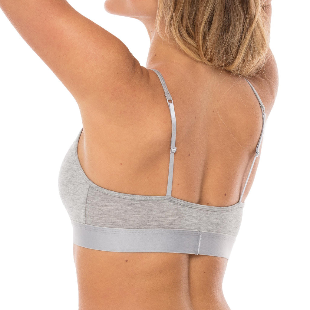 WOOD Heather Grey Strap Crop Bra