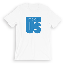 Load image into Gallery viewer, It's On Us Logo T-shirt (Available in Blue, White and Black)