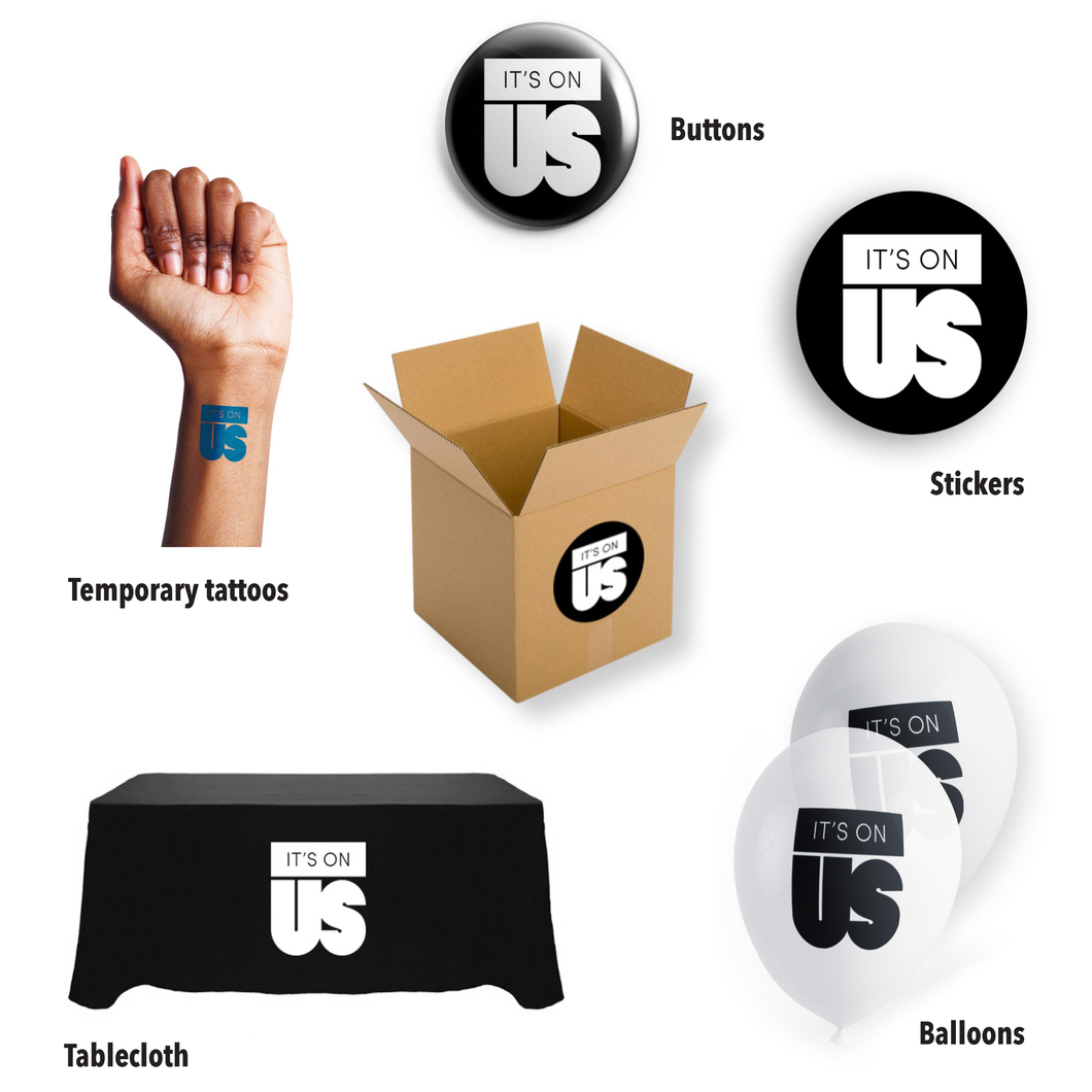 Medium It's On Us Swag Box (300-500 students)
