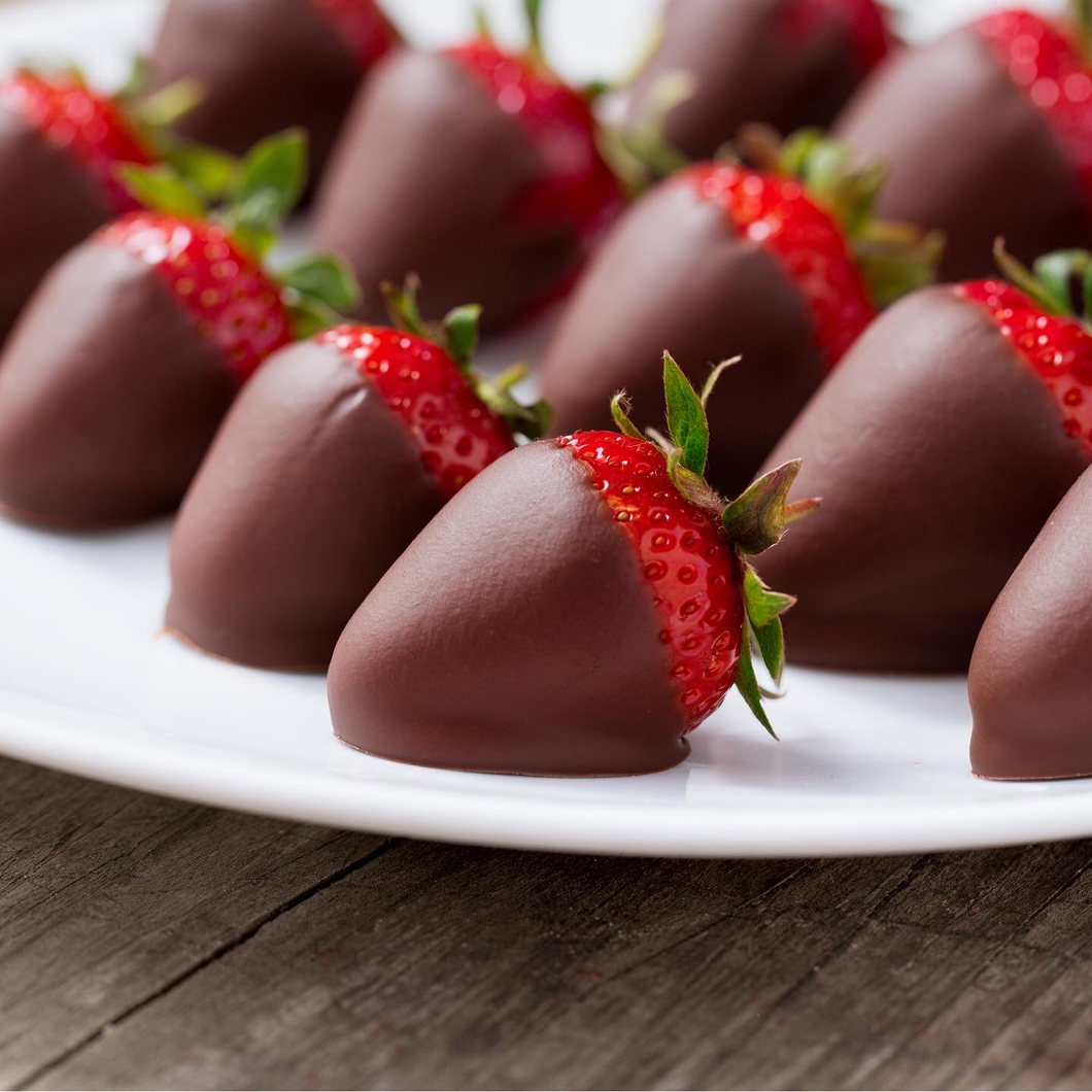 Three Injected Chocolate Dipped Strawberries-Chambord