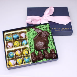 Dark Chocolate Shy Bunny Easter Collection