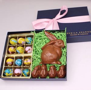AVAILABLE FOR PICKUP ONLY-Milk Chocolate Shy Bunny Easter Collection