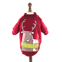 Trendy Reindeer Cartoon Print Jumper