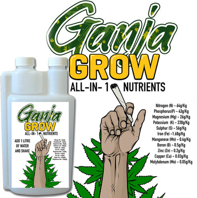 Ganja Grow Nutrients  1 litre bottle