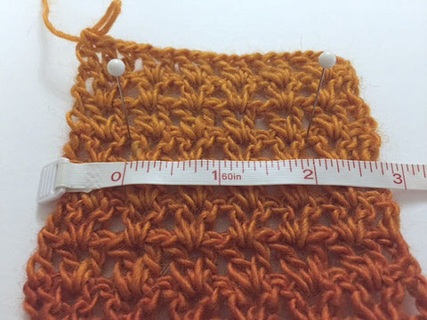 Gauge Swatch Crocodile Stitch Fingerless Gloves