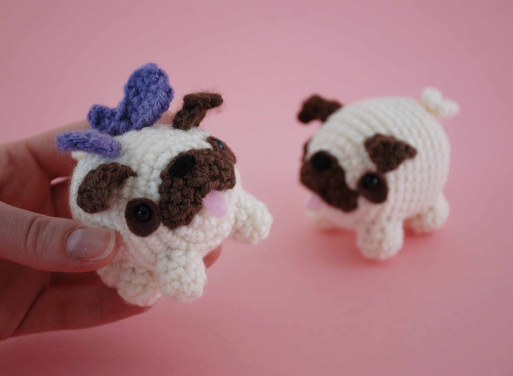 Pug Dog Crochet Pattern Lots Of Ideas Video Tutorial | 750x1023
