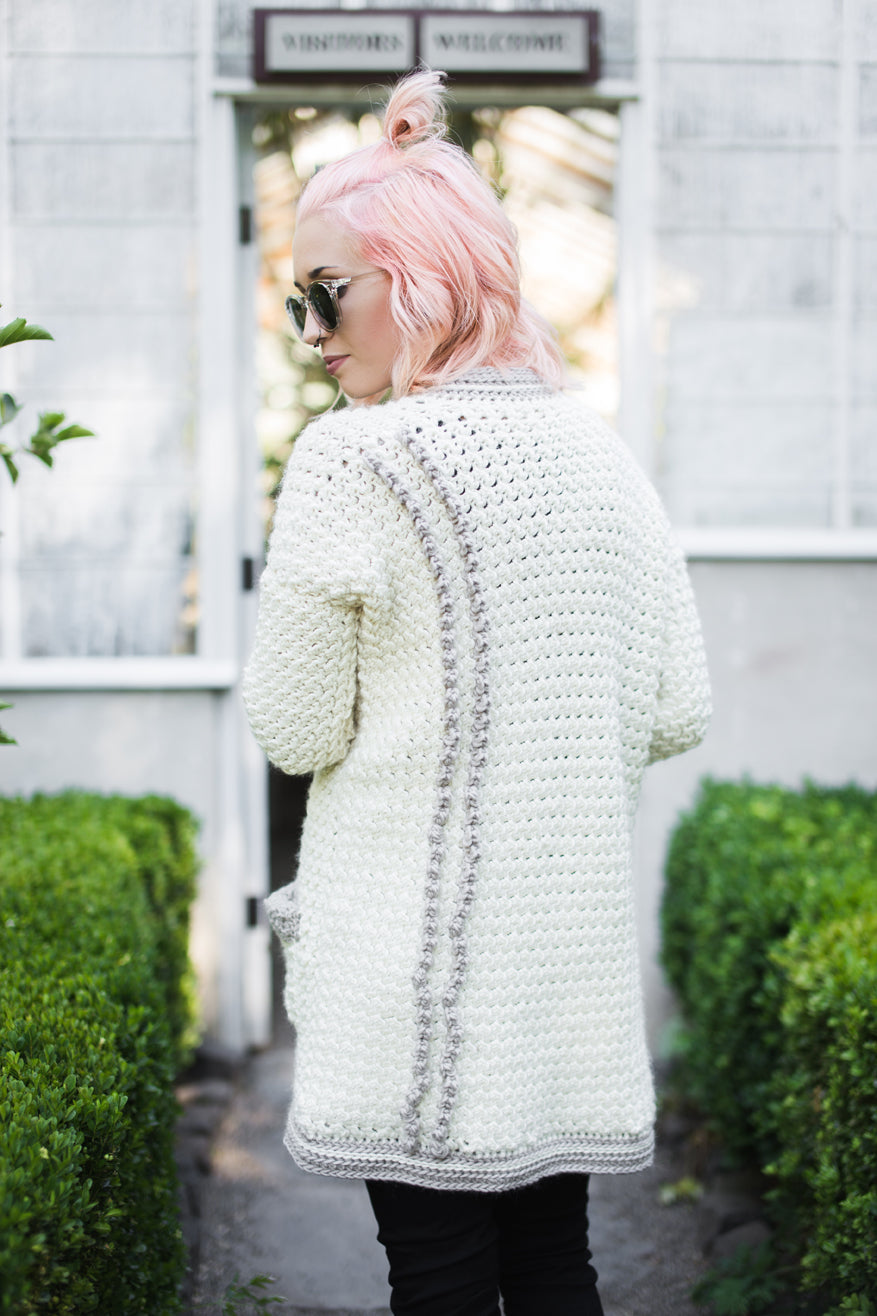 October CAL Evangeline Cardigan by Jessica Carey @thehooknook for Furls Crochet