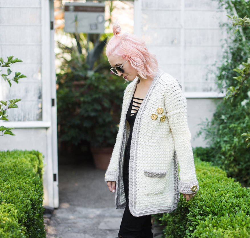 Free October CAL Evangeline Cardigan - Week Three by @thehooknook for Furls Crochet