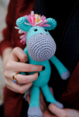 Free Crochet Unicorn Pattern - Red Ted Art - Make crafting with ...   479x327