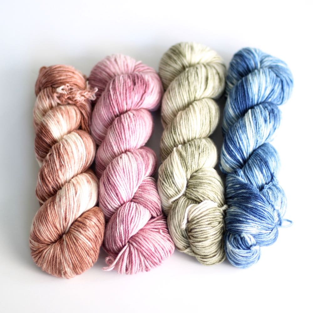 crochet yarn to improve stitches for crocheters, in 4 beautiful colorways