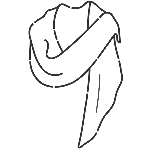 shawl drape illustrated icon