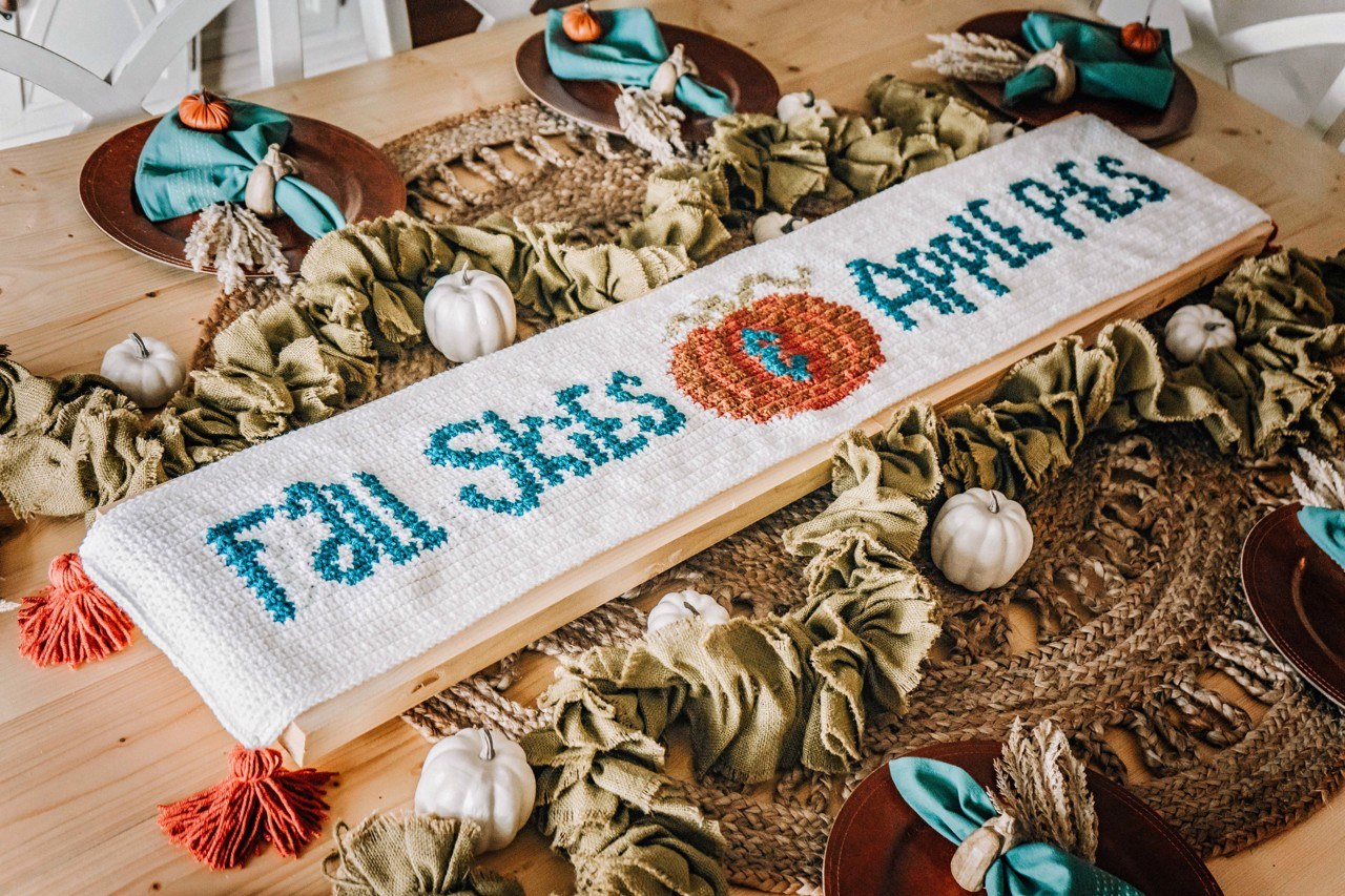 Fall Skies and Apple Pies Table Runner Free Pattern